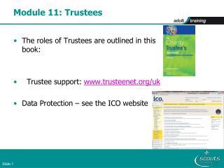 Module 11: Trustees