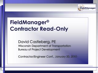 FieldManager � Contractor Read-Only