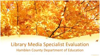 Library Media Specialist Evaluation