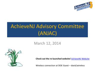 AchieveNJ Advisory Committee (ANJAC)