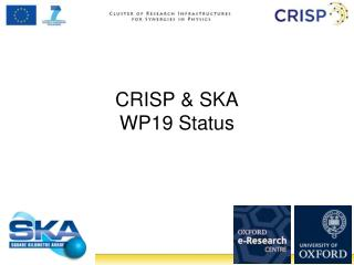 CRISP & SKA WP19 Status