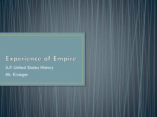 Experience of Empire