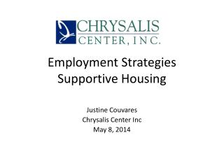 Employment Strategies Supportive Housing