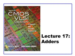 Lecture 17:  Adders