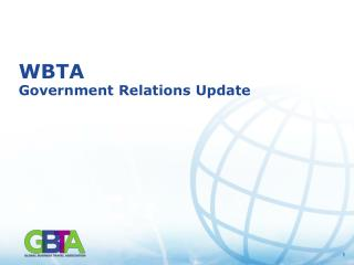 WBTA Government Relations Update