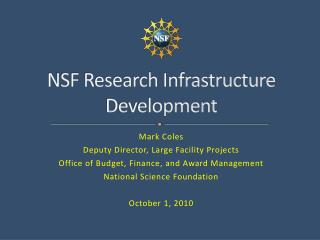 NSF Research Infrastructure Development