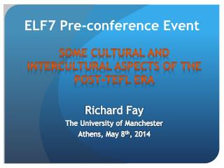 ELF7 Pre-conference Event