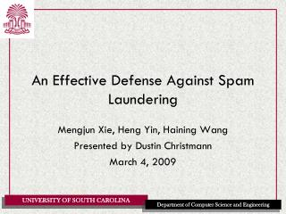 An Effective Defense Against Spam Laundering