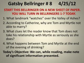 Gatsby Bellringer # 84/25/12