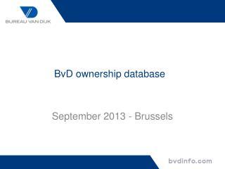 BvD  ownership database