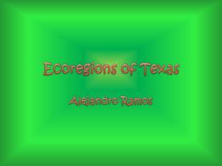 Ecoregions of Texas