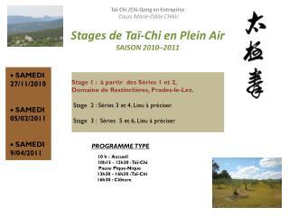Taï-Chi  /Chi- Qong  en Entreprise  Cours Marie-Odile CHAU Stages de  Taï-Chi  en Plein Air
