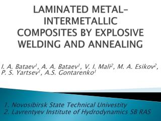 LAMINATED METAL–INTERMETALLIC COMPOSITES BY EXPLOSIVE WELDING AND ANNEALING