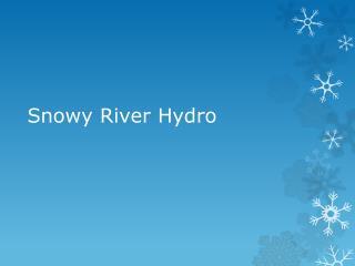 Snowy River Hydro