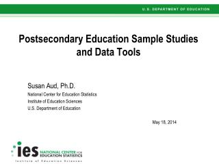 Postsecondary Education Sample Studies and Data Tools