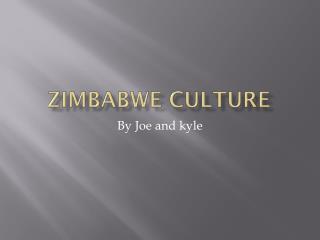 Zimbabwe culture