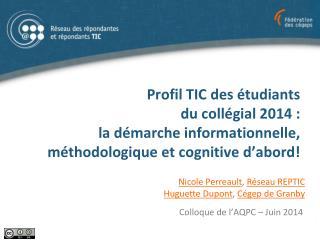 Colloque de l'AQPC – Juin 2014