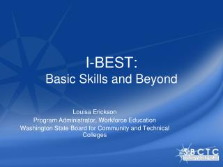 I-BEST:  Basic Skills and Beyond