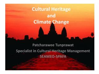 Cultural Heritage  and  Climate Change