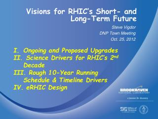 Visions for RHIC's Short- and Long-Term Future