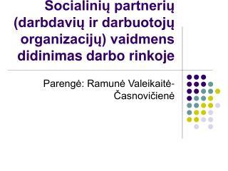 Socialiniu partneriu darbdaviu ir darbuotoju organizaciju vaidmens didinimas darbo rinkoje