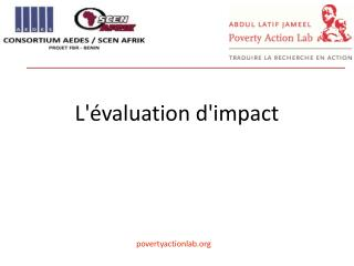 L'�valuation d'impact