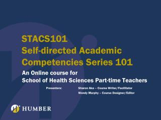 STACS101 Self-directed Academic Competencies Series 101