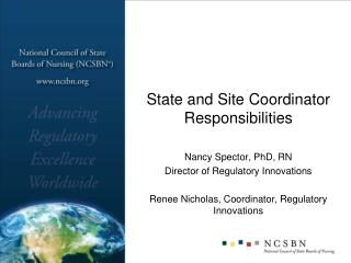 State and Site Coordinator Responsibilities