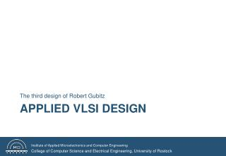 Applied VLSI Design