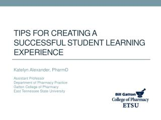 Tips for Creating a Successful Student Learning Experience