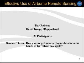 Effective Use of Airborne Remote Sensing
