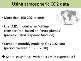 Using atmospheric CO2 data