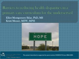 Barriers to reducing health disparities in a primary care curriculum for the underserved