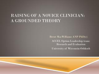 Raising of a Novice clinician: a grounded Theory