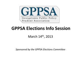 GPPSA Elections Info Session
