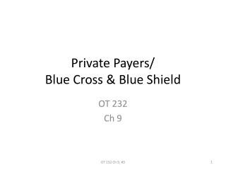 Private Payers/ Blue Cross & Blue Shield