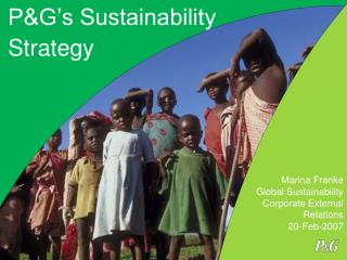 PG s Sustainability Strategy