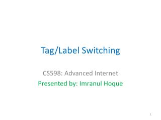 Tag/Label Switching