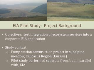 EIA Pilot Study:  Project Background