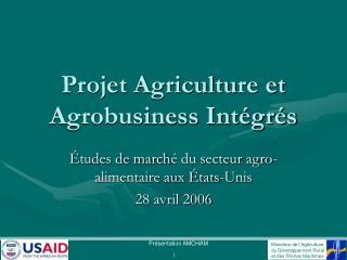 Projet Agriculture et Agrobusiness Int gr s