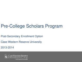 Pre-College Scholars Program
