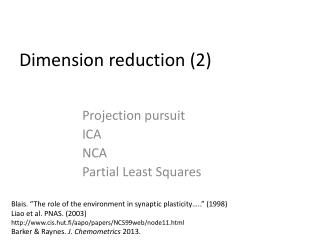 Dimension  reduction  (2)