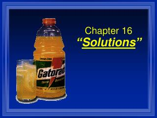 "Chapter 16 "" Solutions """