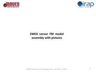 SWEA   sensor   FM  model  assembly with pictures
