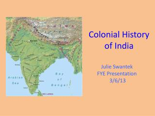 Colonial History of India