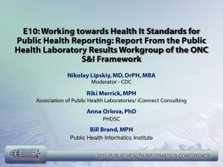 Nikolay Lipskiy, MD, DrPH, MBA