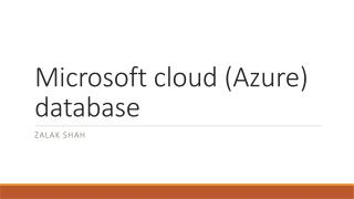 Microsoft cloud (Azure) database