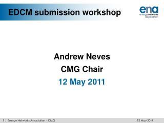 EDCM submission workshop