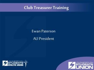 Club Treasurer Training