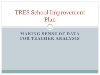 TRES School Improvement  Plan